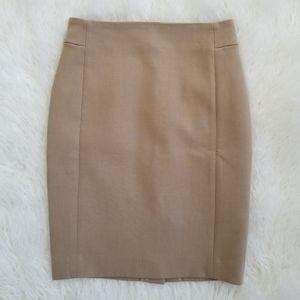 LOFT Beige Tan Khaki Pencil Career Skirt